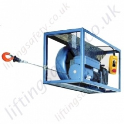 Tractel Tirak Mobile Lifting Hoist In Heavy Duty Frame with Cable Reeling Drum - Range from 300kg to 3000kg