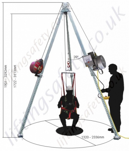 Liftingsafety Quot Electric Powered Lifting Quot Man Riding Tripod
