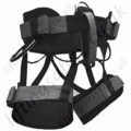 SAR Fully Adjustable Black Sit Harness with Twin Front Attachments and Optional Side Attachments