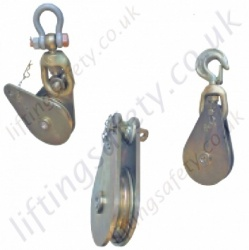 "Tractel ""ETA"", ""ETC"" & ""ETM"" Pulley Sheave Snatch Blocks for Wire Rope Heavy Duty Off-Shore - Range from 2000kg to 32000kg"