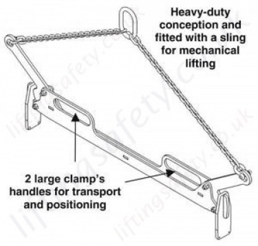 BX200 Kerb Clamp Sketch with Chain