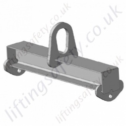 "LiftingSafety 2 Point ""Fixed Length"" Lifting Beams. Central Fixed Top Ring & Suspension Eyes - Range from 1000kg to 6000kg (30 options)"
