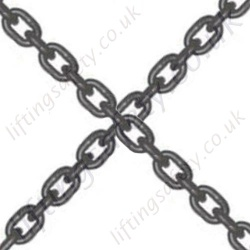 Grade 10 / 100 Blue Lifting Chain - Chain Diameter 6mm to 22mm, WLL 1400kg to 19,000kg