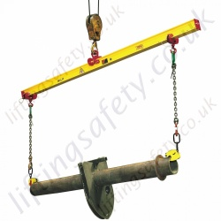 Tractel TOPAL PBM Adjustable Single Lifting Beams Pal-Beam Upper Hook By Central Ring - Range from 1000kg to 6000kg