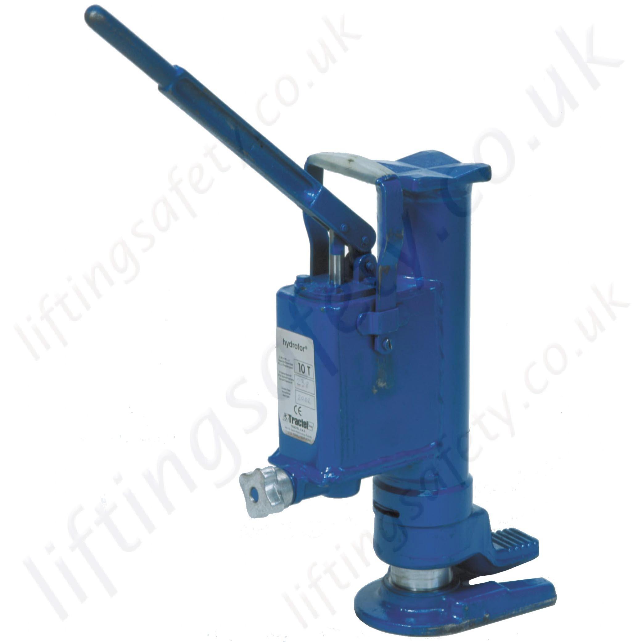 Tractel Hydrofor Hydraulic Toe Jacks Range From 5000kg