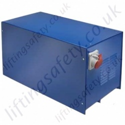 Lifting Equipment Power Converters for Electric Hoists and Winches Converts 240v single phase to 415v 3 phase