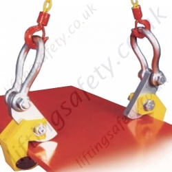 Riley Superclamps HPC Horizontal Plate Lifting Clamps - Range Per Pair from 1500kg to 4000kg