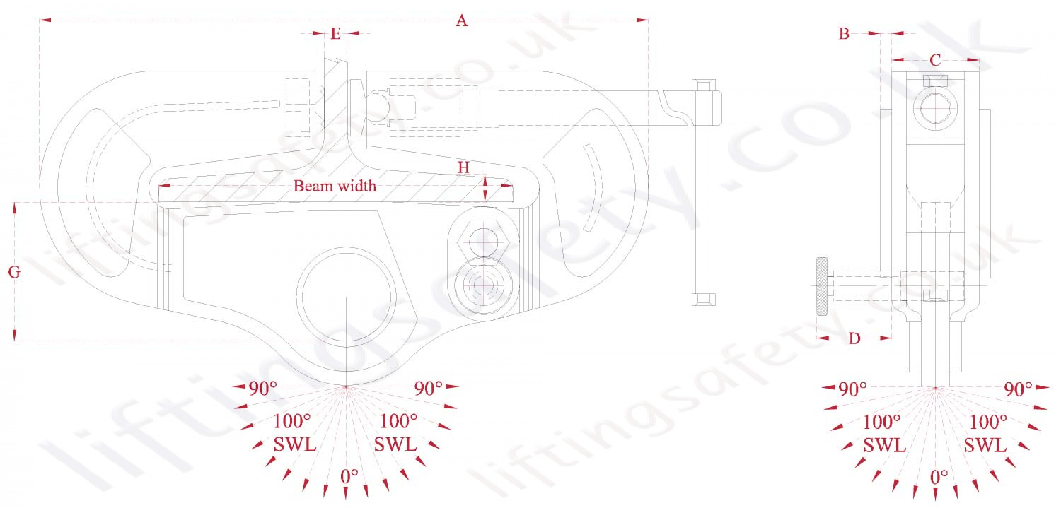 Superclamp Universal Beam Clamp Dimensions