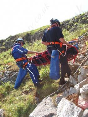 Stretcher in use