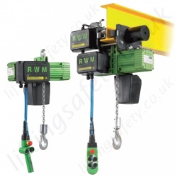 RWM W Electric Chain Hoist 400V 3Ph 50Hz - Range from 125kg to 2000kg