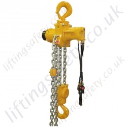 "Ingersoll Rand ""Liftchain"" Compressed Air Hoist (Pneumatic Hoist) - Range from 1500kg to 100,000kg"