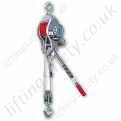 "Ingersoll Rand ""C400"" Lightweight Aluminium Ratchet Puller Hoist for Lifting and pulling Applications - 770kg or 1800kg (Lifting Capacity)"