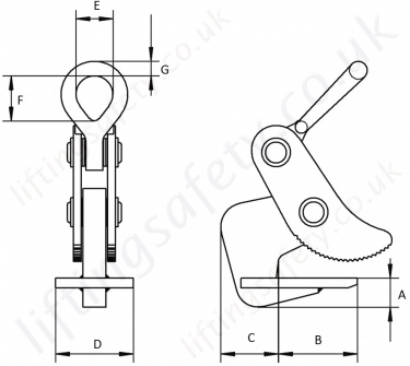 Ch Hh Plate Clamp Dimensions
