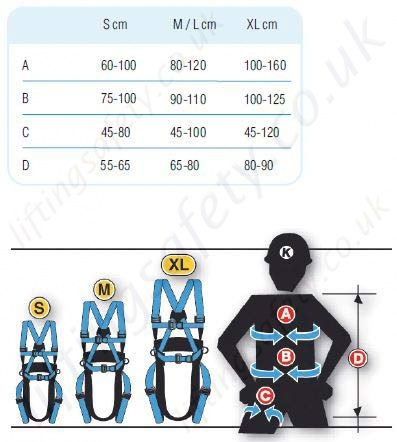 Tractel Harness Size Guide