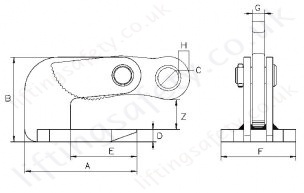 Thin Sheet Horizontal Plate Lifting Clamp Specifications