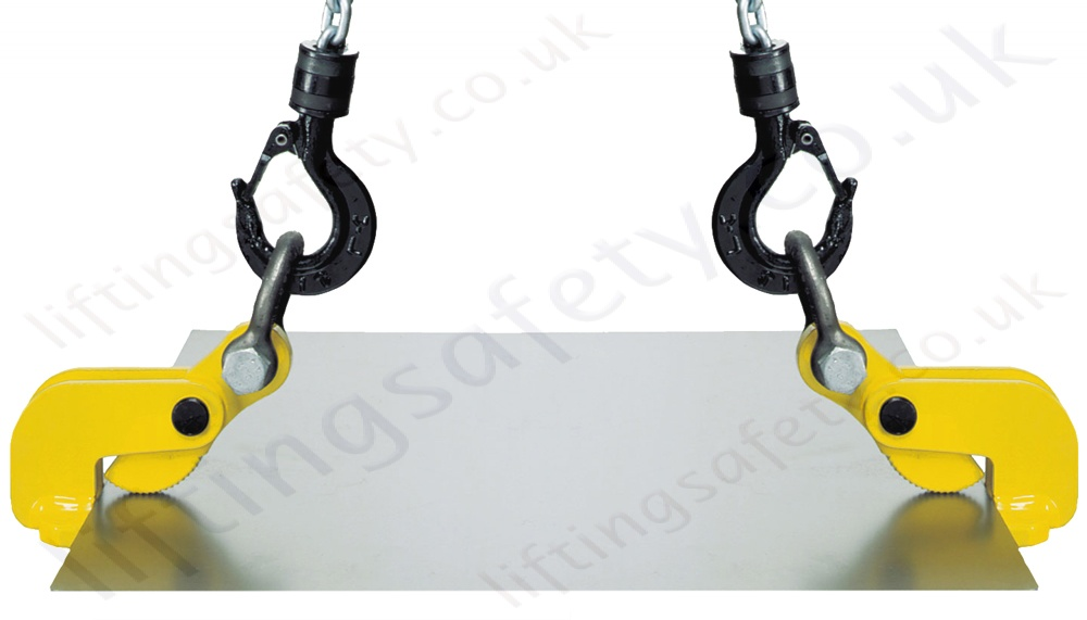Pair Of Horizontal Thin Sheet Plate Clamps