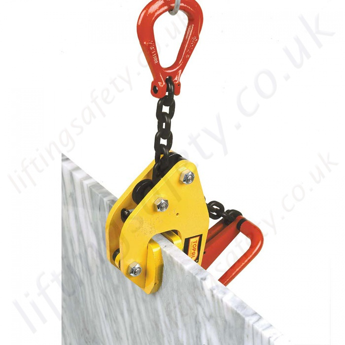 Self locking plate clamp for very hard or sensitive loads