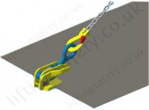 Camlok Thin Sheet Horizontal Plate Lifting Clamp Sling