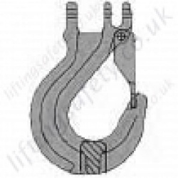 Grade 8 Coupling Hook for use with 7mm to 20mm Lifting Chain