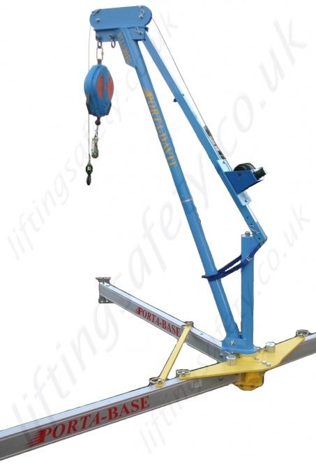 Safety Lifting Arms : Lightweight aluminium portable davit arm kg or