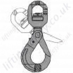 Ball Bearing Self-Locking Hook for use with 7mm to 26mm Lifting Chain