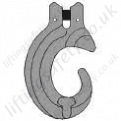 Grade 8 Clevis C-Hook for use with 7mm to 16mm Lifting Chain