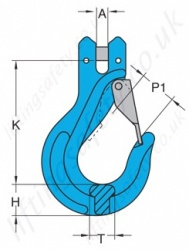 Grade 10 Clevis Sling Hook Dimensions