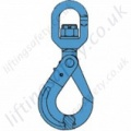 Grade 10 Swivel Self-locking Hook with Ball Bearing for use with 6mm to 20mm Lifting Chain