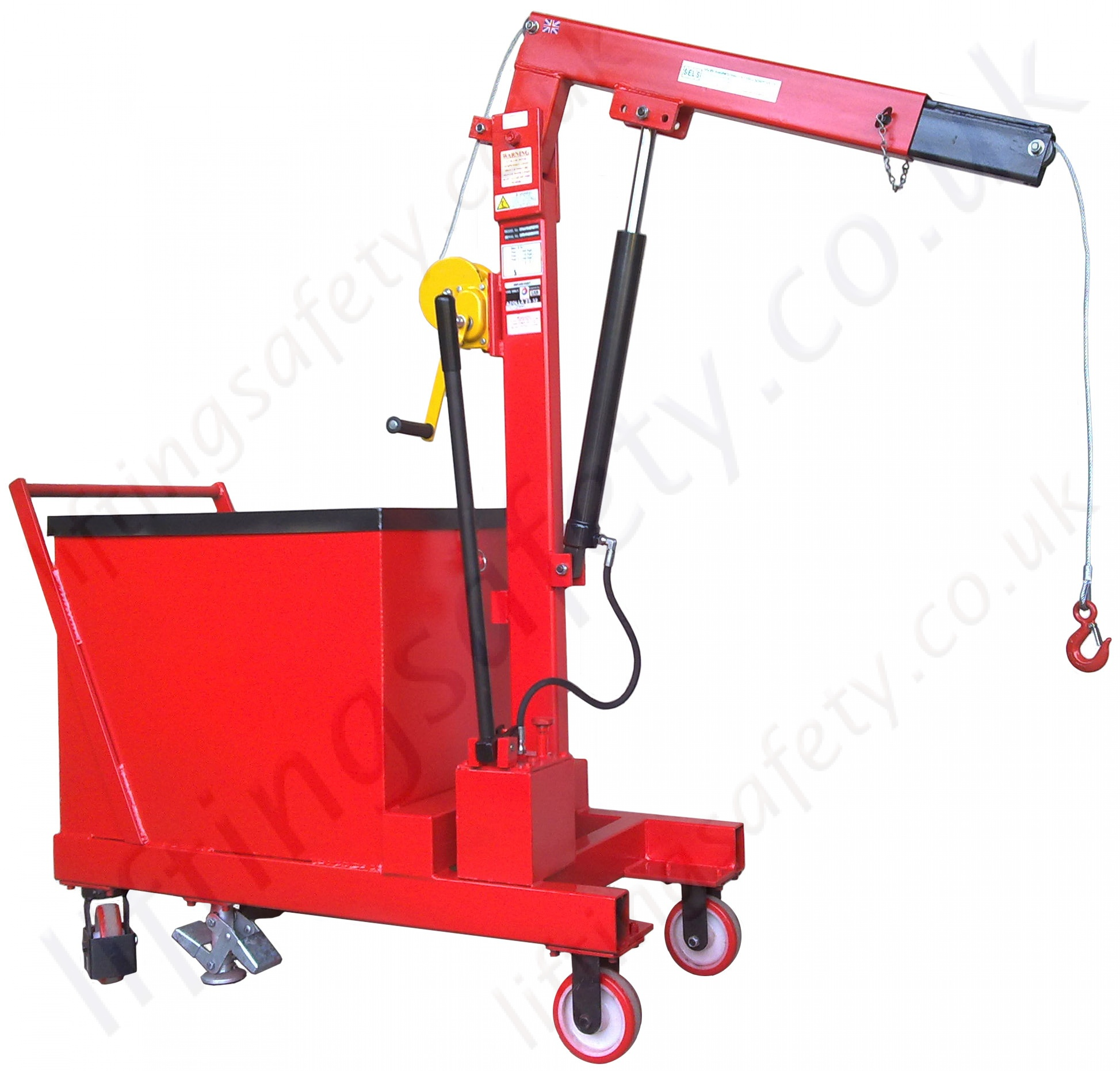 Portable Hydraulic Jib Crane : Kg counterbalance floor crane liftingsafety