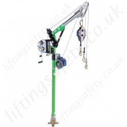 Sala Advanced Davit Arm Confined Space Entry and Rescue System with a Large Selection of Socket, Hoists and Inertia Reels