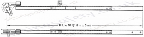 6ft to 10ft pole hoist dimensions