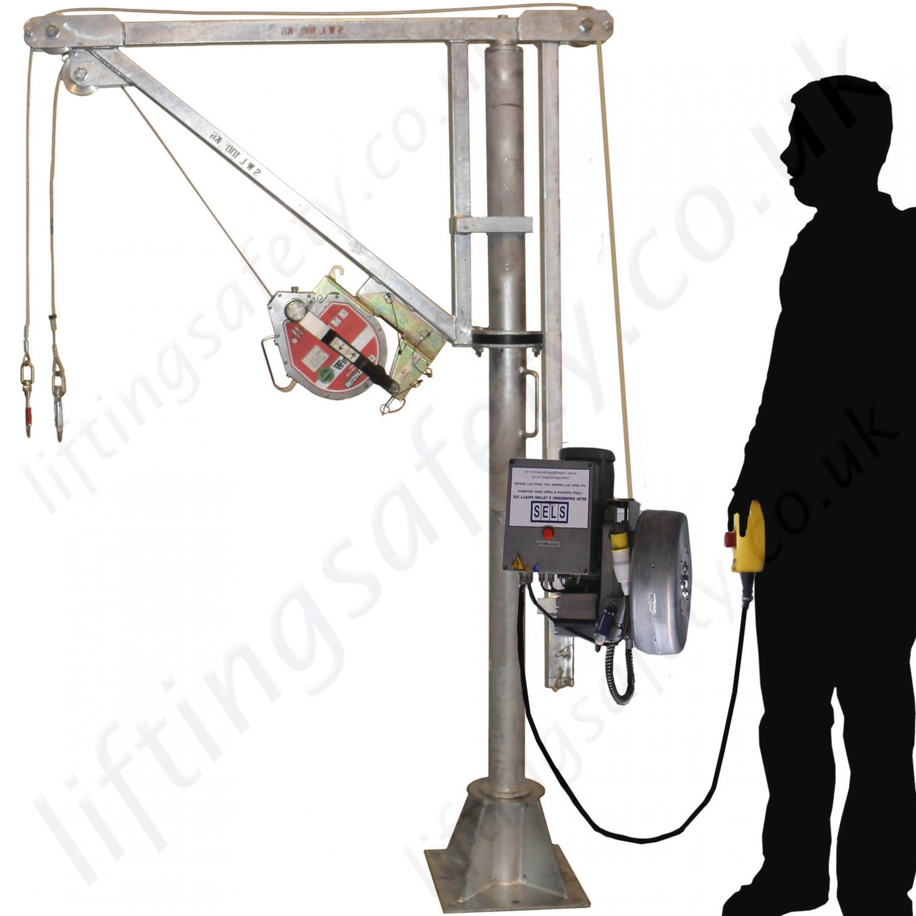 Construction Lift Arm : Liftingsafety degree slew quot electric lift man riding