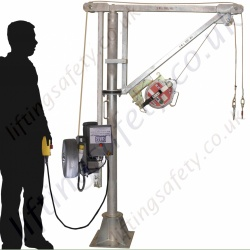 "LiftingSafety 360 Degree Slew ""Electric Lift"" Man-Riding Davit Arm. Galvanised Modular Construction Built To Customers Specification"