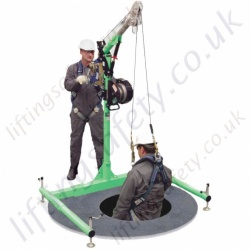 "Sala Advanced ""5 Piece"" Davit with Fully Adjustable Base. Free Standing For Confined Space Entry"