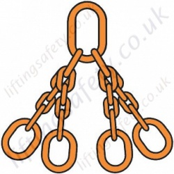 DNV Certified Welded Chain Sling Available in Chain Sizes from 10mm to 20mm Diameter with Capacities Ranging from 7200kg to 26300kg