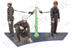 Sala Advanced Portable Fall Arrest Post System with a Wide Choice of Fall Arrest Inertia Reels