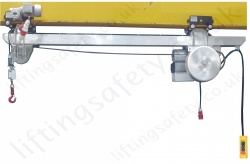 LiftingSafety Electric Powered Low Headroom Cantilever Materials Hoist System, 1Ph  / 3Ph upto 6000kg