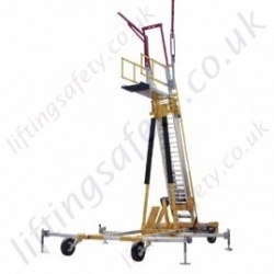 Sala Advanced Portable Free-Standing Ladder Access System. C/W Fall Protection Equipment and Height Adjustable up to 9.3 metre Tall