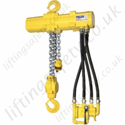 "JDN ""Profi TI Subsea"" Pneumatic Air or Hydraulic Chain Hoist - For Use Under Water - 3200kg and 6300kg"