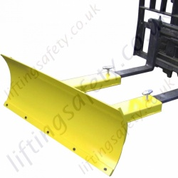 Snow Plough Attachment For Fork Lift Trucks, Shifts Snow to the Left as Standard. Fitted with 10mm Wear Strip - Plough Blade Width Range from 1.22m to 2.13m