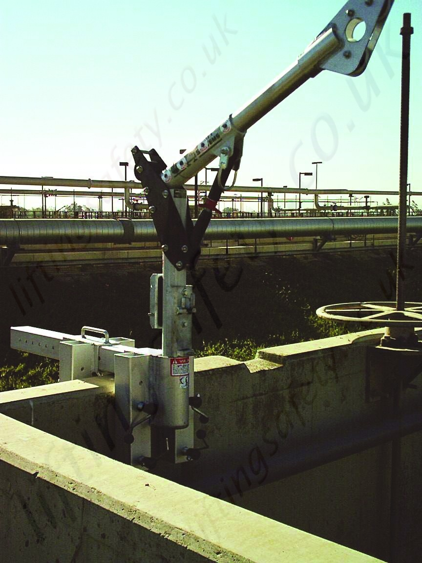 Safety Lifting Arms : Sala advanced quot parapet wall davit arm that clamps over