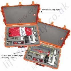 Miller SafEscape Off-shore Wind Energy Rescue and Evacuation Kits with Humidity-Resistant Storage Case.