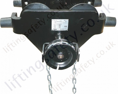 Track Clamp Chain Drive on Push Trolley