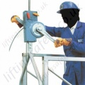 "Tractel ""Scafor"" Lightweight Manual Operation Manriding Hoist as Commonly Used to raise Access Platforms - 400kg Capacity"