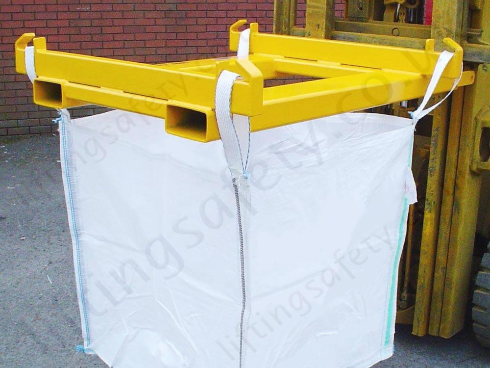 Forklift Lifting Attachments : Forklift big bag handler attachment kg liftingsafety