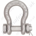 Crosby G2130A Grade 80 Alloy Bolt Type Lifting Bow Shackles (Omega Shackles) with Nut & Split Pin - Range from 2000kg to 17000kg