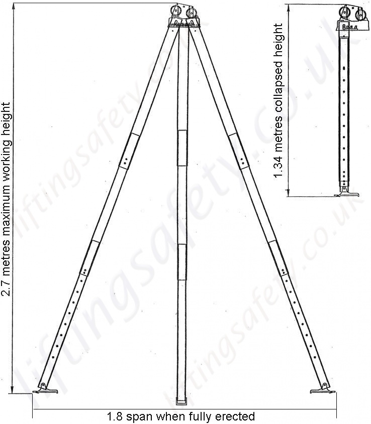 Ridgegear  RGR1  Lightweight Aluminium Rescue Tripod for