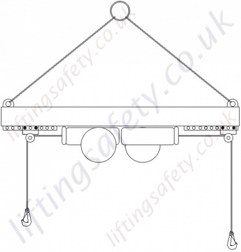 Top Suspension Lifting Towards Outer Edges - Twin Hoists - Adjustable