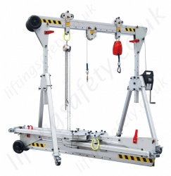 Ultra Quick Set Up Multi Purpose Lightweight Aluminium A-Frame Gantry, upto 500kg