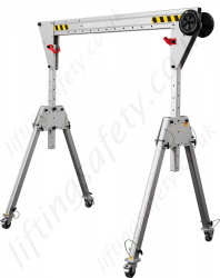 Ultra Quick Set Up Multi Purpose Lightweight Aluminium A-Frame Gantries, Capacity Range up to 1000kg